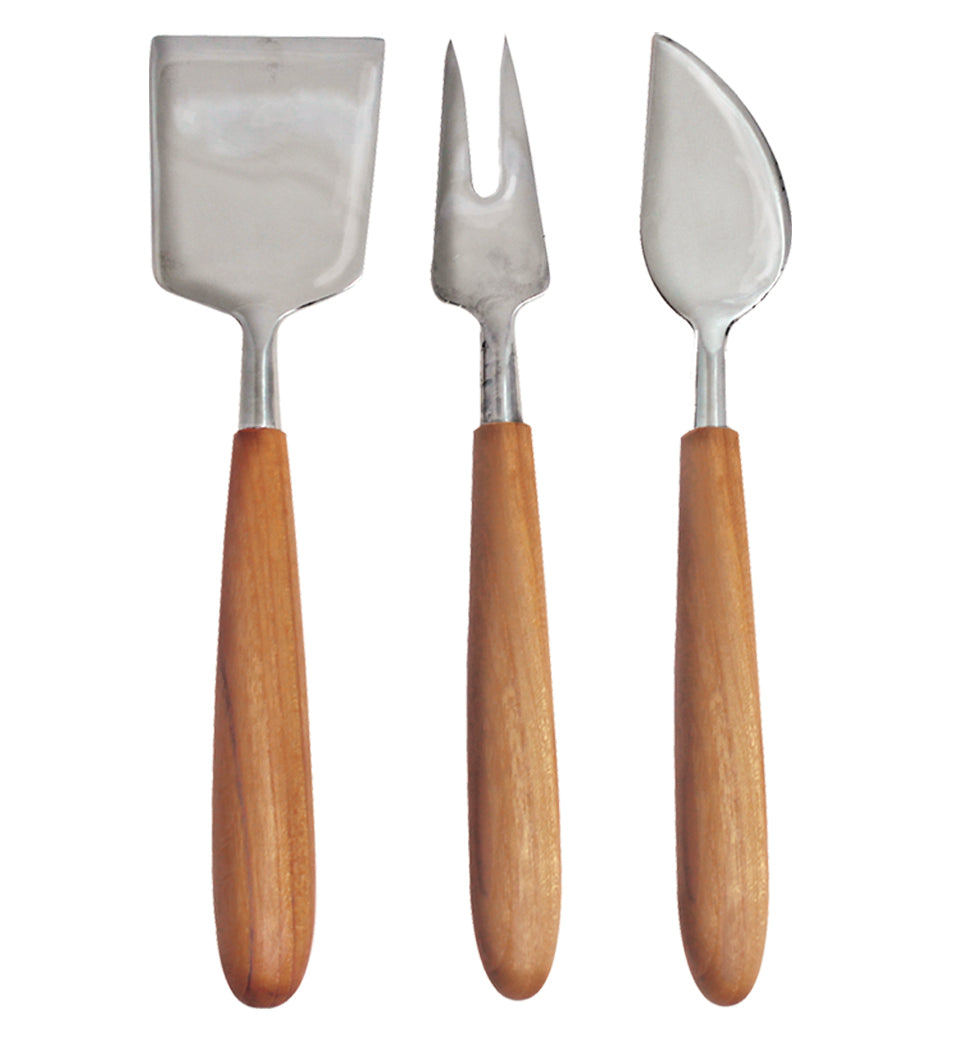 Teak Cheese Utensils