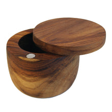 Load image into Gallery viewer, Teak Cellar with Pivoting Lid, Small