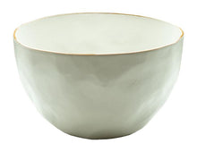 Load image into Gallery viewer, Tan Rim Stoneware Salad Bowl, Medium