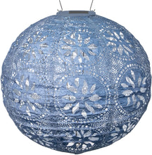 Load image into Gallery viewer, Solar Lantern Globe, Boho Blue
