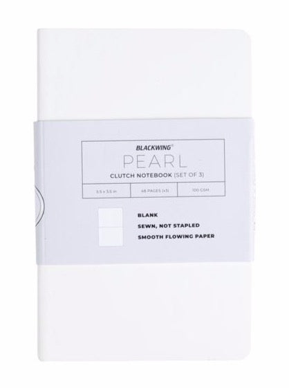 Blackwing Pearl Clutch Notebook, Dot Grid, Set of 3