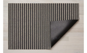Breton Stripe Shag Mat in Gravel, Size Options