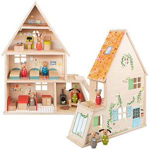 Moulin Roty Doll House with Furniture
