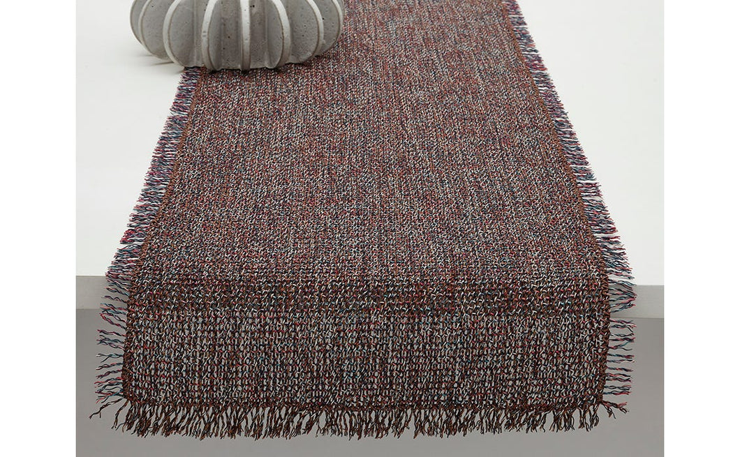 Market Fringe Table Runner in Sangria