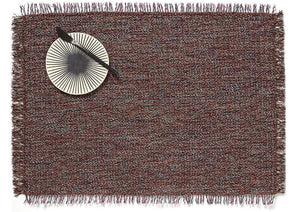 Market Fringe Rectangle Placemats in Sangria, Set of Two