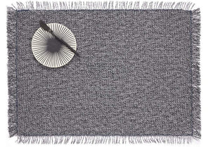 Market Fringe Rectangle Placemats in Shadow, Set of Two