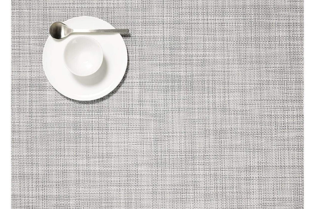Mini Basketweave Rectangle Placemats in Mist, Set of Two