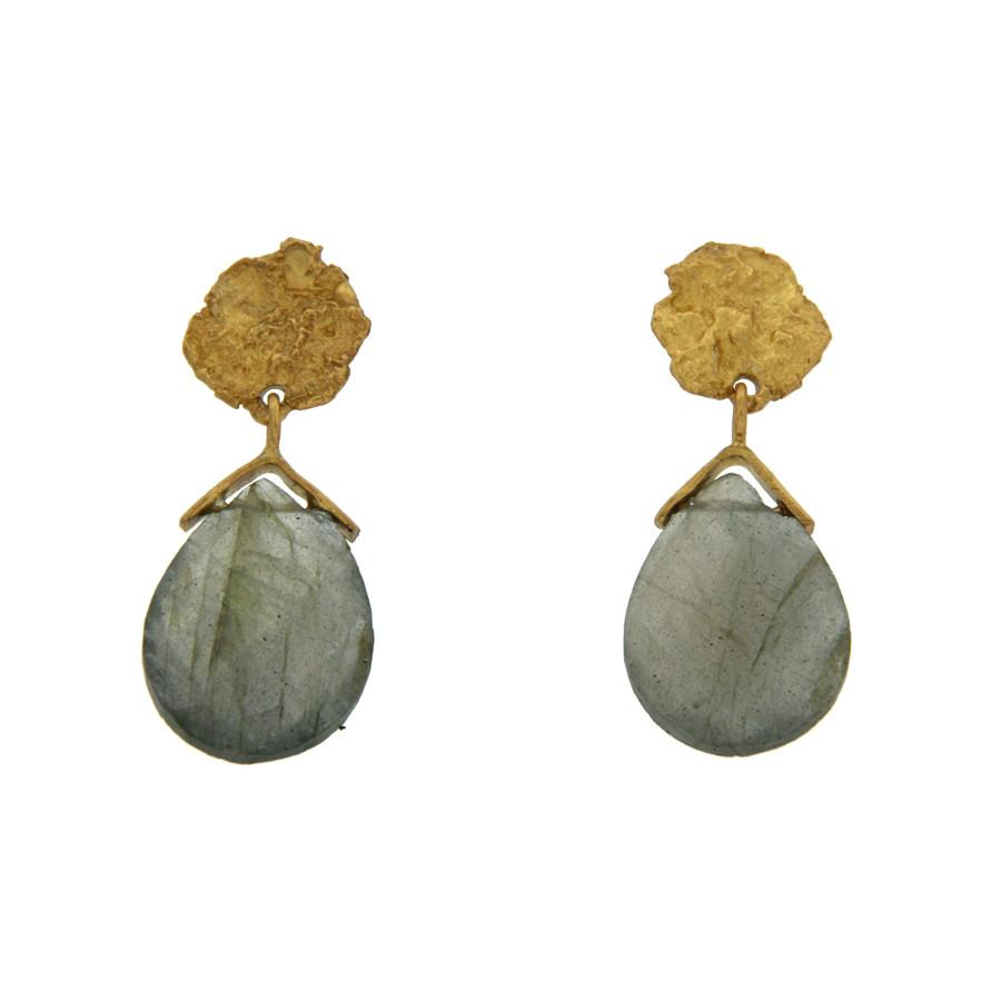 Mystic Earrings in Labradorite