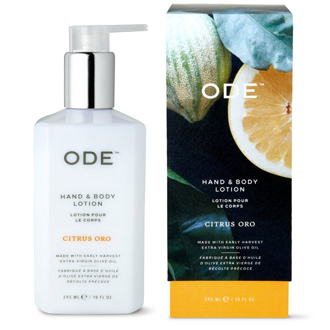 ODE Citrus Oro Hand & Body Lotion, 10oz