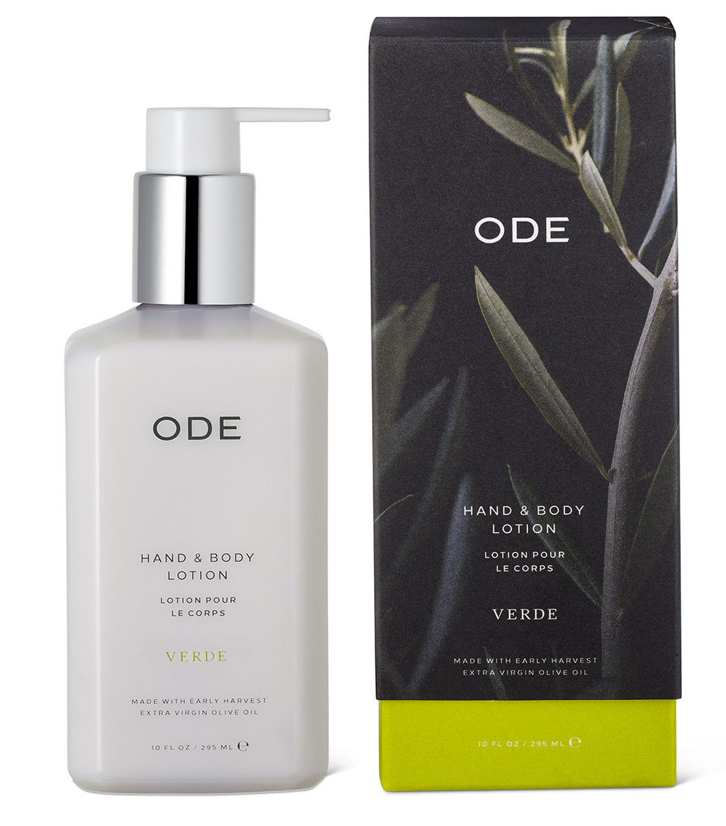 ODE Verde Hand & Body Lotion, 10oz