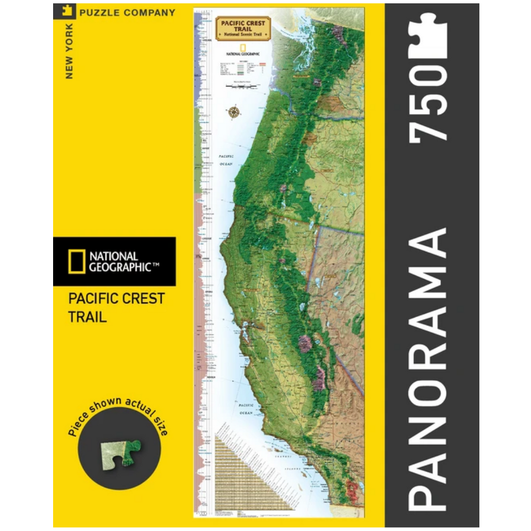 Pacific Crest Trail- National Geographic Map 750 Piece Jigsaw Puzzle