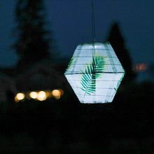 Load image into Gallery viewer, Round Diamond Solar Lantern, Palm Print