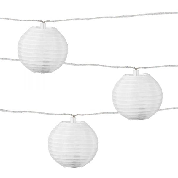 Solar String Lights, White 10 Count