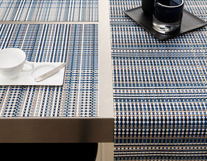Grid Rectangle Placemat in Blue, Each