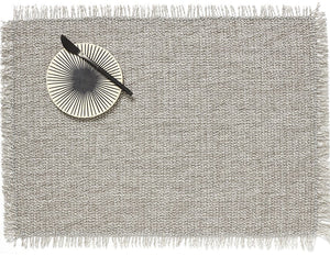 Market Fringe Rectangle Placemats in Quartz, Set of Two