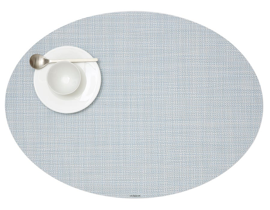 Mini Basketweave Placemats in Sky, Set of Two