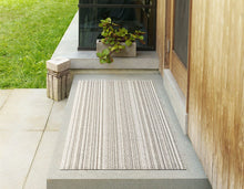 Load image into Gallery viewer, Skinny Stripe Shag Mat in Birch, Size Options