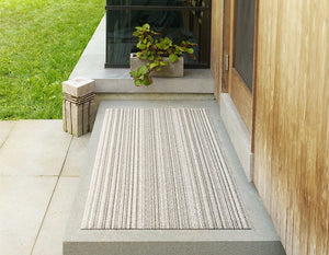Skinny Stripe Shag Mat in Birch, Size Options