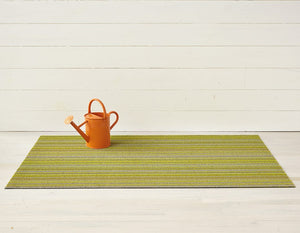 Skinny Stripe Shag Mat in Citron, Size Options