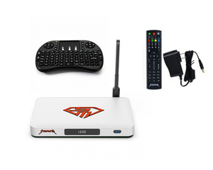 STREAMASTER SM2 4K OCTA-CORE STREAM MASTER TV BOX  STREAMING TV ANDROID BOX WITH WIRELESS KEYBOARD REMOTE