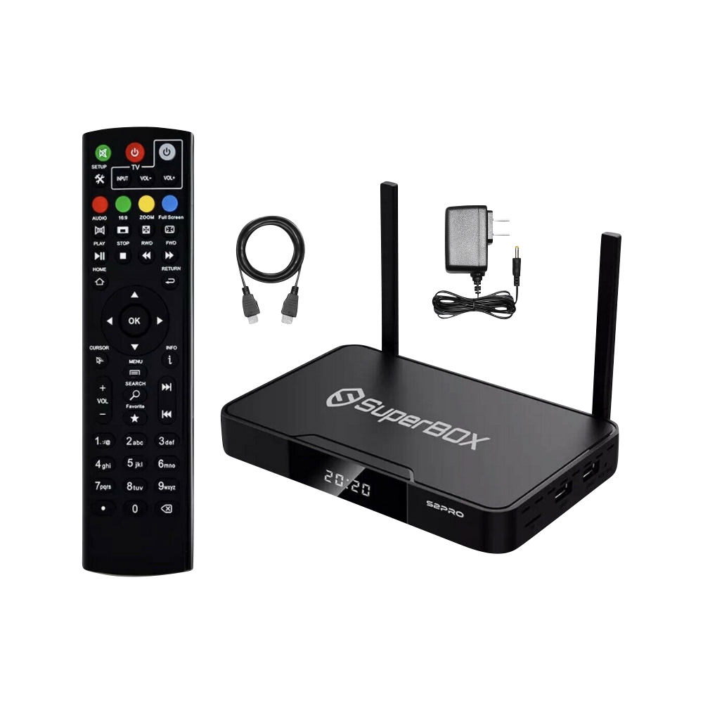 SUPERBOX S2 PRO 6K ANDROID TV Dual Band Wi-Fi 6K HD 4K Ultra HD 6K Video Player with Keyboard Remote Free Shipping USA