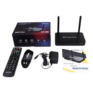 SUPERBOX S2 PRO 6K ANDROID TV Dual Band Wi-Fi 3D With 7 Days Playback Fully Load HD 4K Ultra HD 6K Video Player