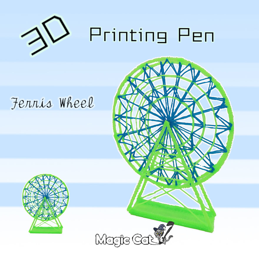 Ferris Wheel(MAGIC-CAT 3D pringting pen's stencil)
