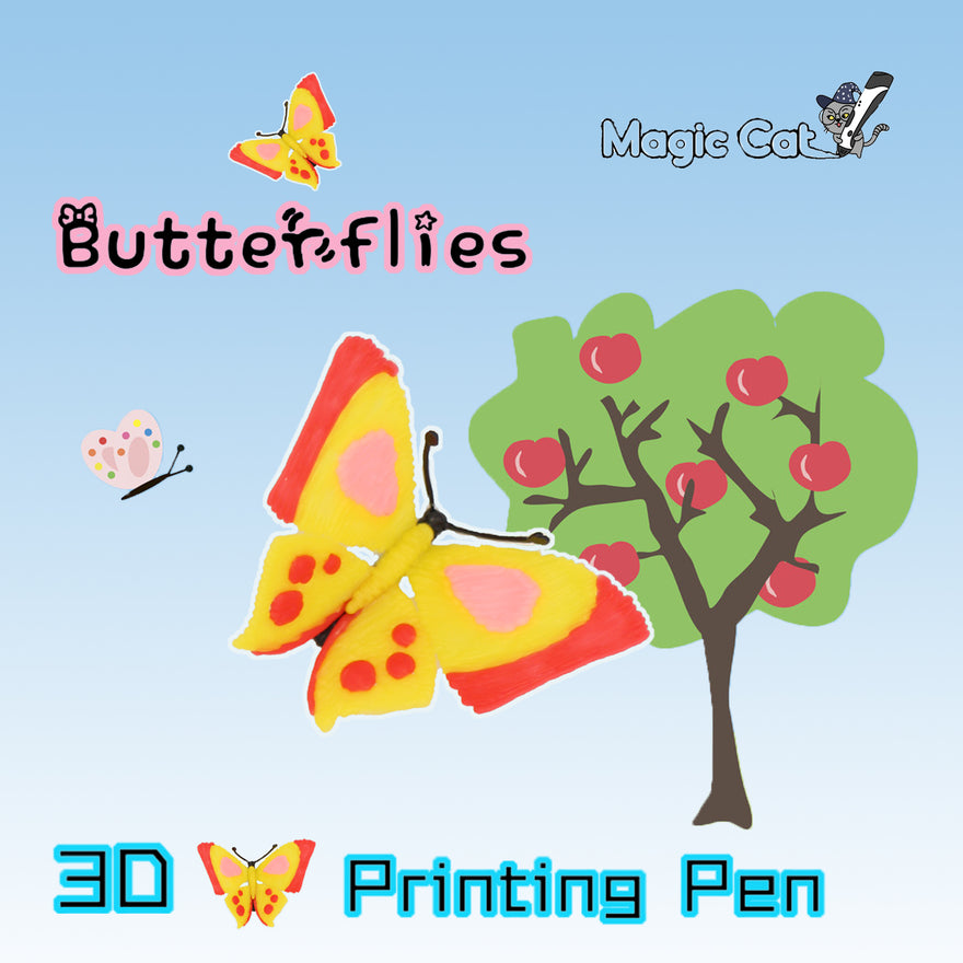 Butterfly(MAGIC-CAT 3D pringting pen's stencil)