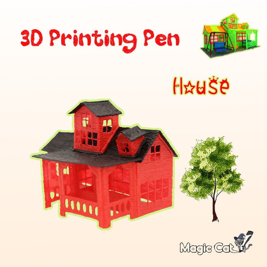 House(MAGIC-CAT 3D pringting pen's stencil)