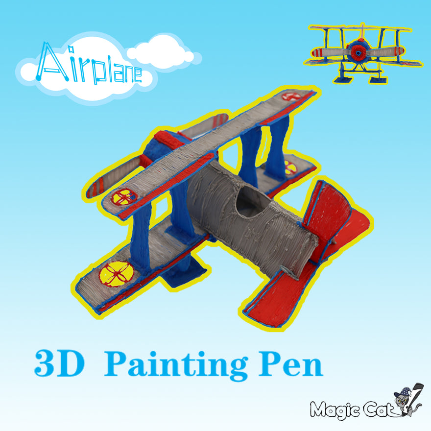 Airplane(MAGIC-CAT 3D pringting pen's stencil)