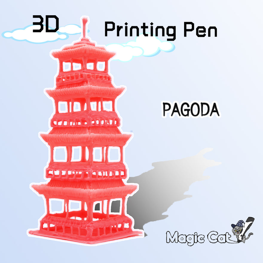 Pagoda(MAGIC-CAT 3D pringting pen's stencil)