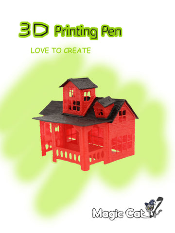 Magic Cat 3D printing pen -- House -- 02