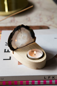 Agate + Candle Holder
