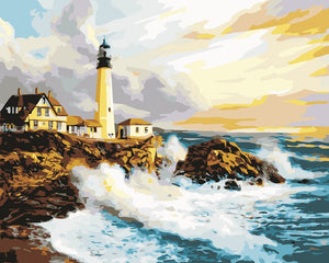 Lighthouse Landscapes - Artfully Bliss paint by numbers
