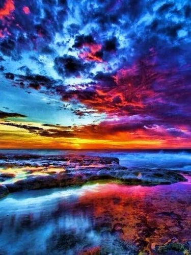 Colorful Skies - Artfully Bliss paint by numbers