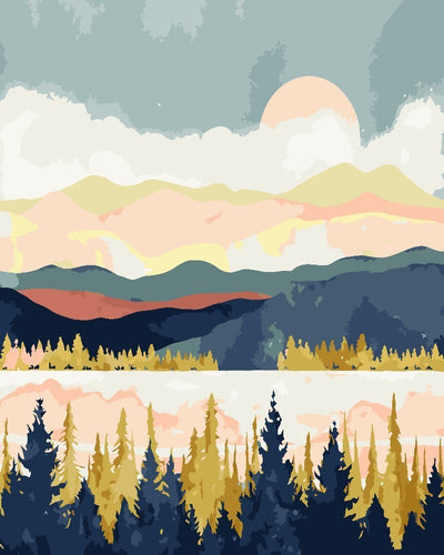 Mountainous Landscapes - Artfully Bliss paint by numbers