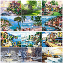 Load image into Gallery viewer, Lighthouse Landscapes - Artfully Bliss paint by numbers