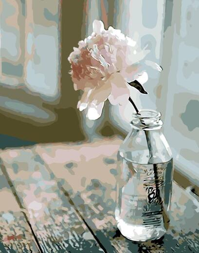 Lonely Rose - Artfully Bliss paint by numbers