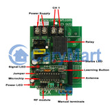 Remote Control Kit with 12 AC 120V 220V Output Wireless Receivers and RF Transmitter (Model: 0020459)