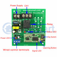 1 Way Long Range 5km AC Relay Output 10A Wireless Switch RF Receiver (Model: 0020688)