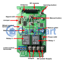 Wireless Remote Control DC Motor Switch