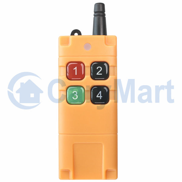 Strong Industrial Waterproof Long Range RF Remote Control / Transmitter Four Buttons (Model: 0021087)