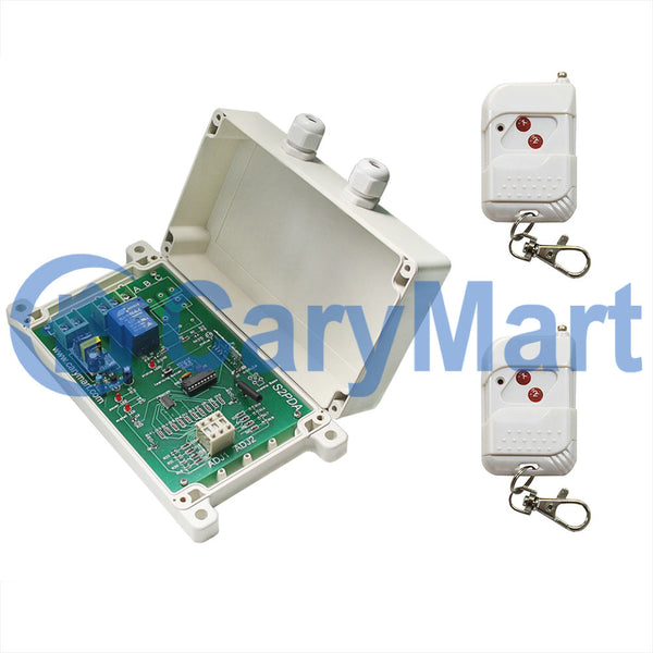 1 Channel 110V 220V 30A Adjustable Time Delay Wireless Switch With Remote Control (Model: 0020655)