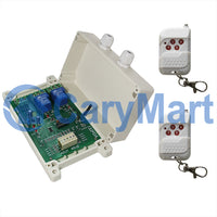 2 CH 12V 24V 30A Time Delay Wireless RF Remote Control Switch Kit (Model: 0020659)