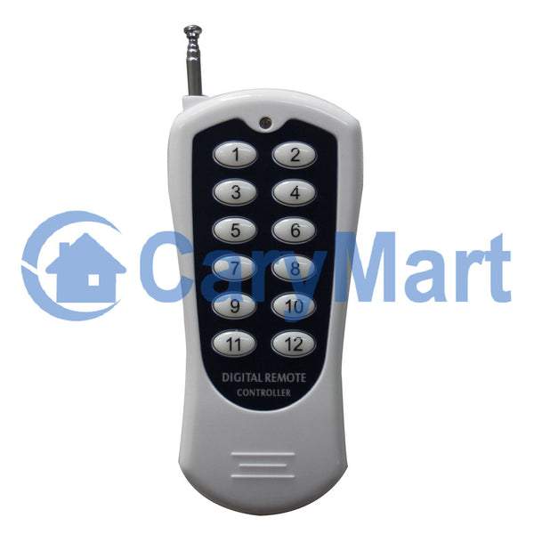12 Buttons 500 Meter Wireless Remote Control Transmitter 433MHz (Model: 0021022)