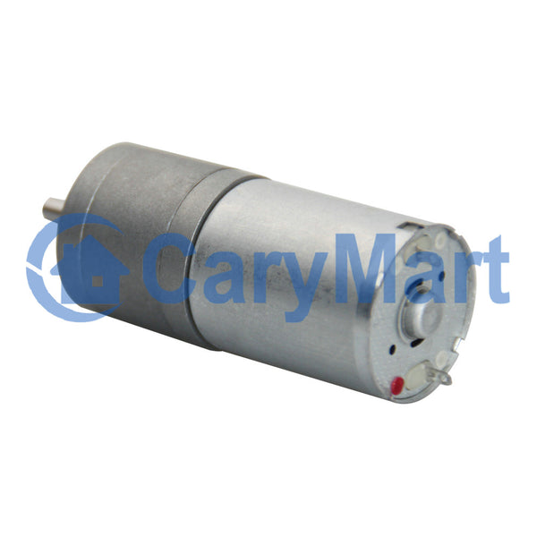 25mm 12V Heavy Duty High Torque DC Electric Geared Motor Optional Speed (Model: 0041311)