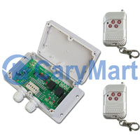 2 CH 12V 24V 10A Time Delay Wireless RF Remote Control Switch Kit (Model: 0020320)