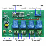 Lora Long Range Remote Control Switch Kit with RF Transmitter and 4CH 30A AC Output Receiver 433MHz (Model: 0020673)