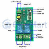 2 Channel Long Distance 5km Relay Module Wireless Switch (Model: 0020103)