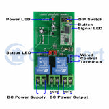 5000M Wireless Remote Control Kit 2 Way DC 6V 9V 12V 24V Input Output 30A Current (Model: 0020115)